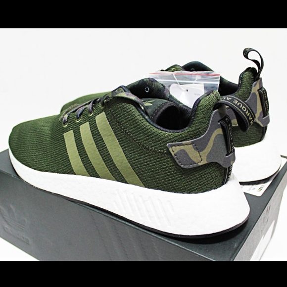 7b16e8243b4e3 NIB ADIDAS NMD R2 12 Bape Green Camo r1 yeezy 350